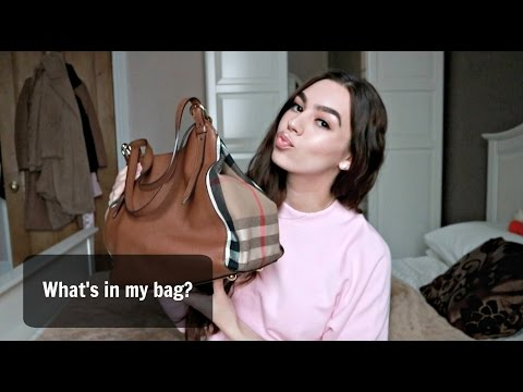 ♡ What's in my Burberry bag 2017 ♡