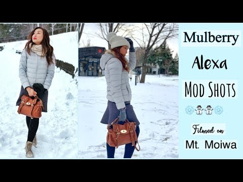 Mulberry Alexa Bag as Travel Bag | Filmed on Mt Moiwa | Very Cold